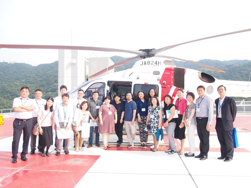 "In front of the ""doctor helicopter"""